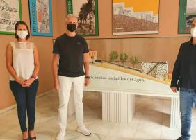 En la sede se expone una maqueta con dos históricos molinos de agua: el de las Cuatro Esquinas y el de Josefina