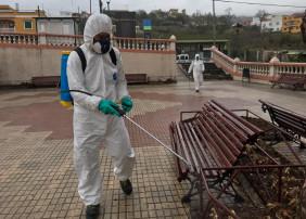 Se intensifican las labores de limpieza y desinfección de espacios públicos