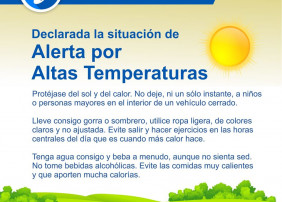 Alerta por altas temperaturas y riesgo de incendios