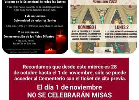 El acceso al cementerio municipal el próximo domingo, sólo con ticket de cita previa