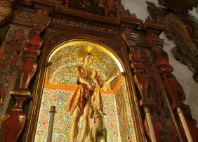 Restaurado el retablo de San Juan Bautista del templo del mismo nombre de la Villa de Arriba