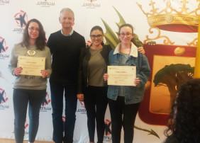 María del Mar Ballesteros, Yara Lorenzo y Rebeca Rodríguez, ganadoras del XVIII Certamen del Relato Hiperbreve
