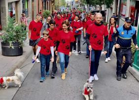 Cerca de 500 personas participaron, con sus mascotas, en el V Paseo Canino Solidario de La Orotava