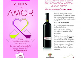 Entre los días 5 y 13 de febrero los tickets de compras podrán ser canjeados por una botella de vino de la Denominación de Origen Valle de La Orotava