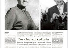 La Orotava ha sido cuna de diversas personalidades cuya aportación y trabajo traspasaron las fronteras y contribuyeron a engrandecer diversos ámbitos, desde la literatura y la pintura, pasando por el cine y la docencia, casos estos últimos que representan dos excepcionales mujeres: Nieves Lugo y Elisa González, respectivamente.